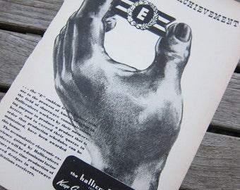 WW II Advertising Illustration 1942 Communications Manual B&W Original Historic Bold Dramatic