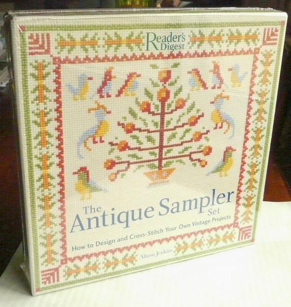 Antique Sampler Cross Stitch Kit, Brand New in Box