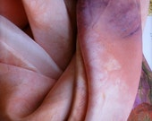 rusted rose playsilks - set of 2 - hand dyed low impact silk dyes - waldorf