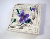 Purple Flowers Coaster Set