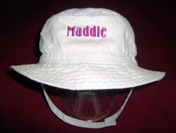 Personalized Embroidered  Baby Toddler Bucket Hat Easy Ordering