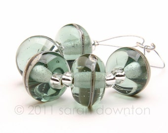 City Chic Stripes - Handmade Lampwork Glass Beads by Sarah Downton