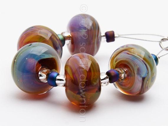 Andromeda - Handmade Lampwork Glass Beads by Sarah Downton