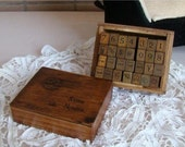antique style NUMBERS and DAYS rubber stamps
