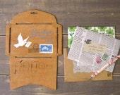 medium Anticca Poulain envelope stencil template