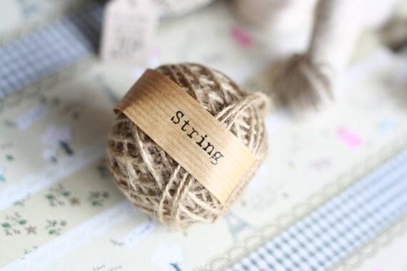 natural Hessian hemp twine ball