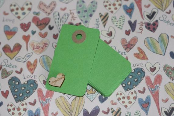 LIME GREEN medium reinforced blank craft tags