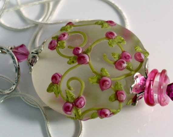 RESERVED Do not buy ............Lampwork bead pendant