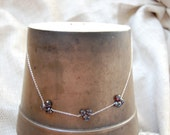 garnet heart briolette necklace