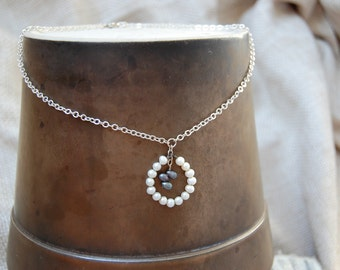 freshwater pearl circle necklace