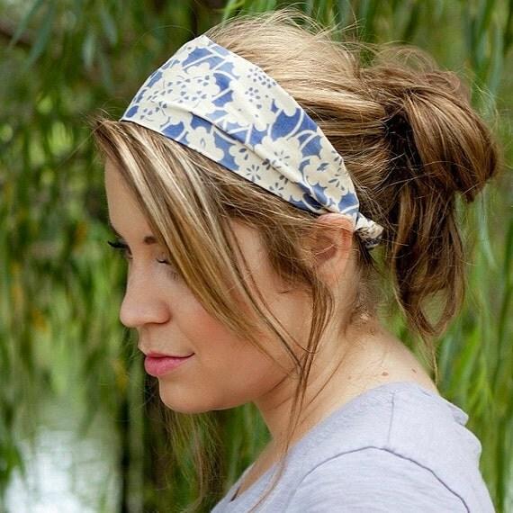 Wide Stretch Headband, Lavender Wide Stretch Hair Band, Wide Stretch Bandana