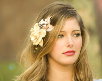 bridal headband, wedding accessories, woodland wedding  crown, bridal hair crown, woodland hair crown, pinecone hair crown