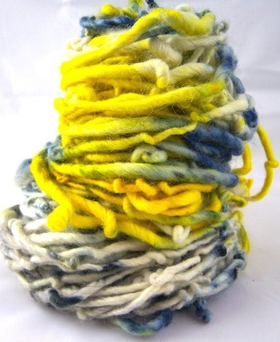 Sun and Sky HandSpun and Hand Dyed Yarn