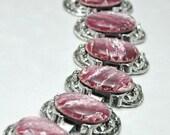 Pink Chunky Bracelet Vintage Southwestern Style