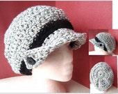Crochet PATTERN hat num 99  SLOUCHIE HAT. make it yourself..... adult size, beginner level, instant download