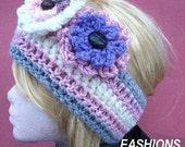 104.... Headband CROCHET PATTERN... make it any size... Instant Download