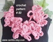 crochet pattern, scarf num. 80 LARIAT/SCARF, Number  80.. crochet pattern, instant download