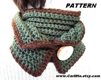 crochet pattern number 42 scarf cowl neckwarmer. Crochet for Beginners, instant download