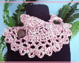crochet pattern scarf- #79.. NECKWARMER, Scarf Crochet pattern, ITALIA COWL. crochet scarf pattern, crochet for beginners..instant download