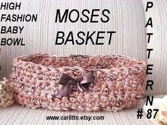 crochet pattern, baby basket cocoon, num 87, Baby Basket/Bowl/Cocoon/Womb Moses Basket  fits up to 3 months.instant download