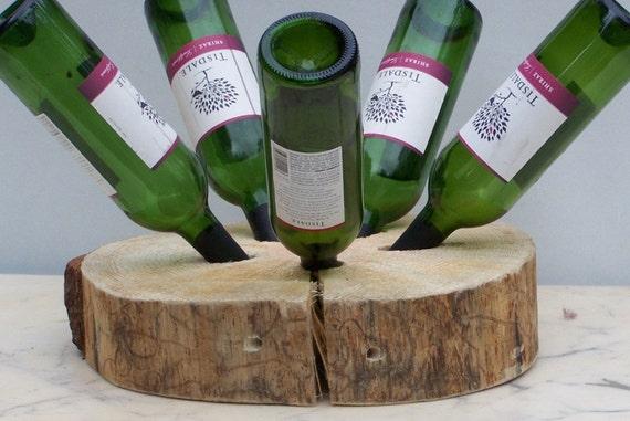 Rustic pine wine rack for Portabottiglie vino fai da te