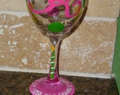 Hand Painted 30th or 40th, 50th etc wine glass