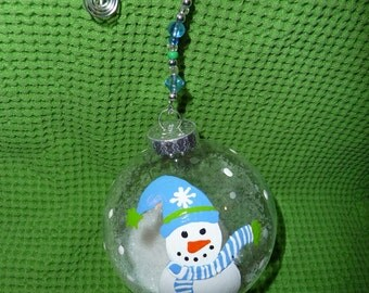 Hand Painted Snowball Ornament