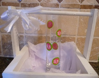 Hand Painted Personalized Glass Vase