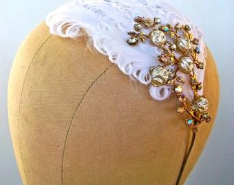 Climbing Vines- Vintage Plume headband