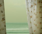 Mid Century Art Photography Vintage Curtains Ocean View 8x10 Fine Art Photograph