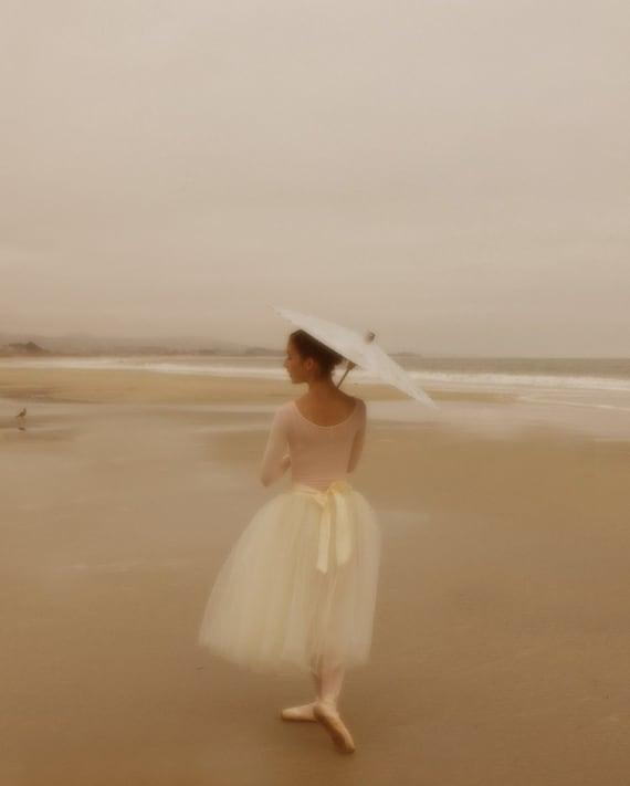 Ballerina on the Beach 8x10 Archival Photograph