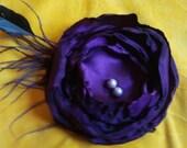 Handmade Purple Satin Flower