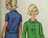 Simplicity 7473 Vintage 60's Mod Shirtwaist Sheath with Back Belt and Yoke Seaming