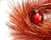 Vintage Holiday Decor Red Super Tinsel - Extra Long Needles