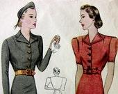 Simplicity 2557 Vintage 1930's Day Dress Pattern Sz 18