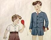 Simplicity 2587 Vintage 1930's Boys Suit & Shirt w/Shorts Sz 4