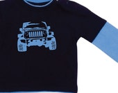 my jeep.. layered long sleeve tee..