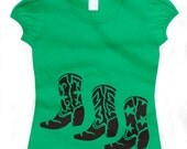 my cowboy boots.. girls puff sleeve tee