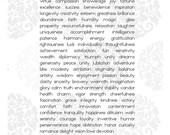 100 Wishes Keepsake Print