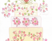 Let's Eat Cake Wedding Tree Fingerprint Party Kit