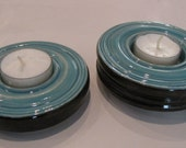 Set of two Tea Light Holders from Pottery Lane