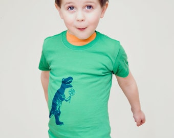 Dinosaur  T shirt, T-Rex Shirt,  funny baby shirt, toddler, Green, etsykids team, baby boys, infant shirt
