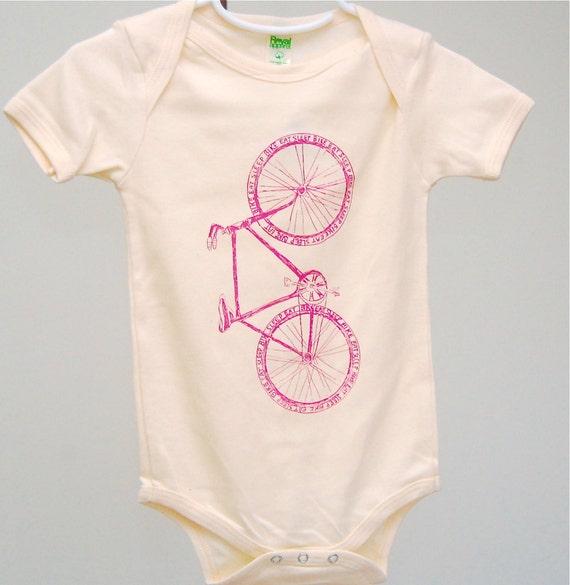 Bike Onesie, bicycle bodysuit, Cute Baby Clothes, Blue Onesie, Baby Onesie, Etsykids team
