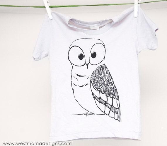 Cute Baby Clothes, Owl Shirt, Girl Clothes, Boy Shirts, Gray T-shirt, Owl, Graphic T-shirt, kids fashion