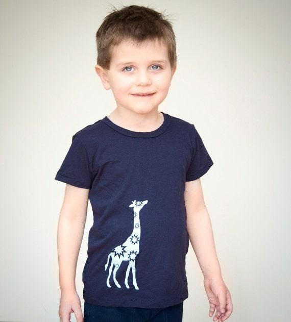 Giraffe T Shirt, Cute baby clothes, Giraffe shirt, Toddler, Navy Blue,  Stars, Zoo, etsykids team