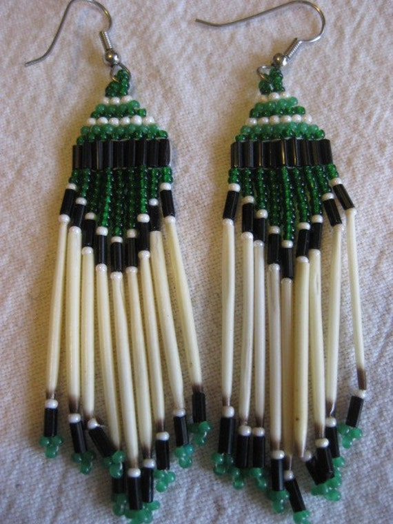 Make Quilling Beads Green Beaded Porcupine Quill