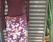 japanese blossoms, a wrap skirt