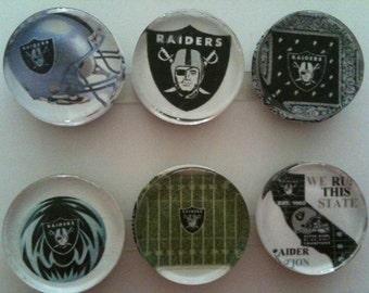 Oakland Raiders Handmade Magnets