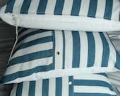 SALE Trio of Stuffed Shirt Stripey Yacht Caravan Men's Shirt cushion covers
