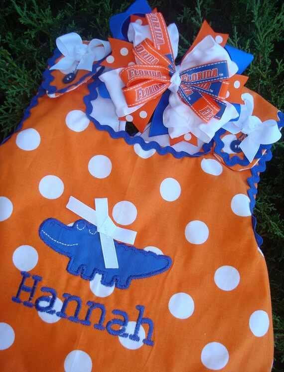 Items similar to Florida Gators Girls Outfit Ruffle